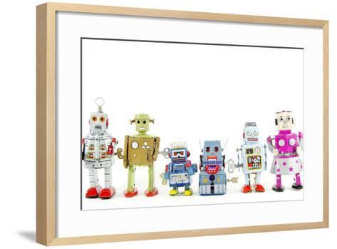 A Team of Robot Toys-davinci-Framed Art Print
