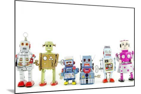 A Team of Robot Toys-davinci-Mounted Art Print