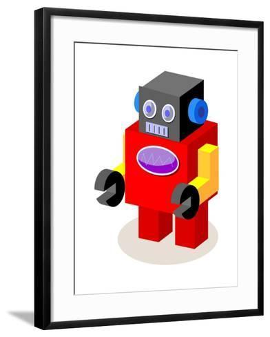 Vector Icon Robot-eastnine-Framed Art Print