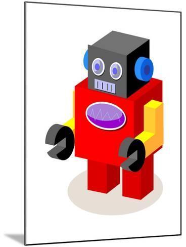 Vector Icon Robot-eastnine-Mounted Art Print