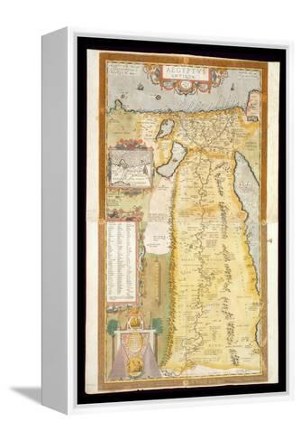 Map of Ancient Egypt, 1584-Abraham Ortelius-Framed Canvas Print