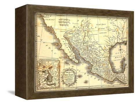 Map Of Mexico Dated 1821-Tektite-Framed Canvas Print