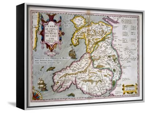 Map of Wales, Published c.1630-Jodocus Hondius-Framed Canvas Print