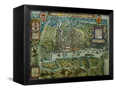 Map of the City and Portuguese Port of Goa, India--Framed Canvas Print
