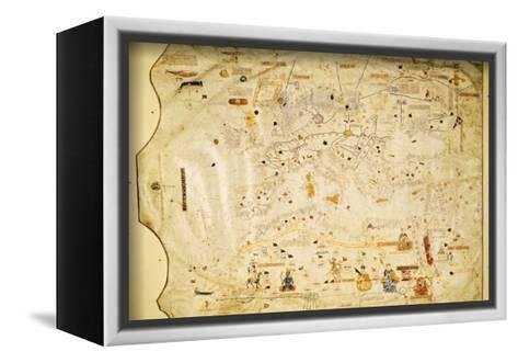 Atlas of Charles V, Map of Mecia De Viladestes, a Portulan of Europe and North Africa, 1413--Framed Canvas Print