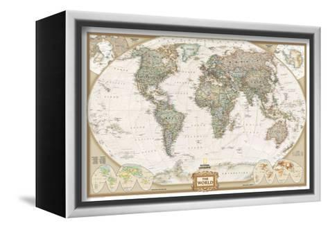 World political map executive style stretched canvas print by world political map executive style national geographic maps framed canvas print gumiabroncs Choice Image