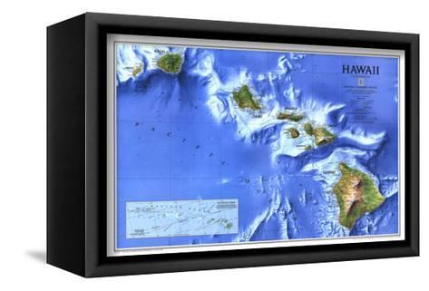 1995 Hawaii Map-National Geographic Maps-Framed Canvas Print