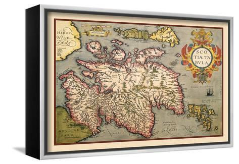 Map of Scotland-Abraham Ortelius-Framed Canvas Print