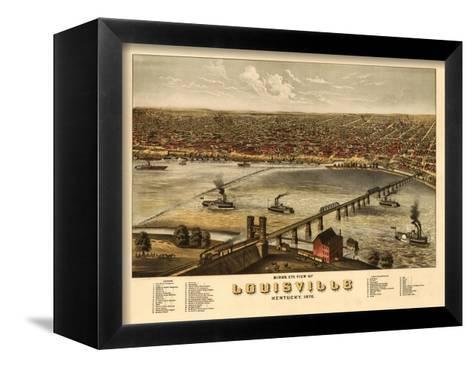 Louisville, Kentucky - Panoramic Map-Lantern Press-Framed Canvas Print
