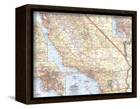 1966 Southern California Map-National Geographic Maps-Framed Canvas Print