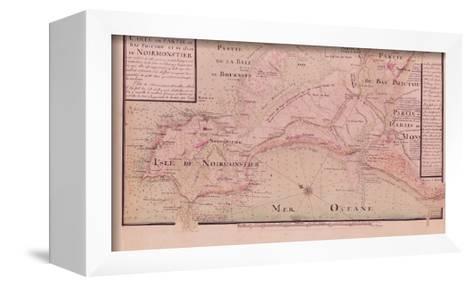 Map of Bas-Poitou and the Ile de Noirmoutier-Claude Masse-Framed Canvas Print