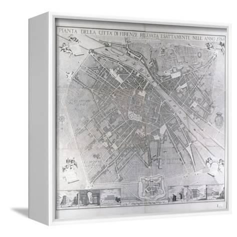 Map of Florence, 1783- Magnelli-Framed Canvas Print