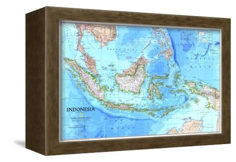 1996 Indonesia Map-National Geographic Maps-Framed Canvas Print