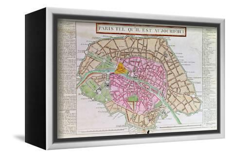 Map of Paris, June 1800--Framed Canvas Print
