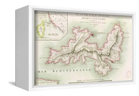 Map of the Island of Elba, 1814-Baron Louis Albert Bacler D'albe-Framed Canvas Print