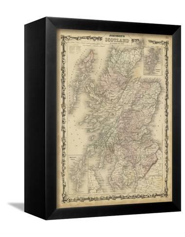 Johnson's Map of Scotland--Framed Canvas Print
