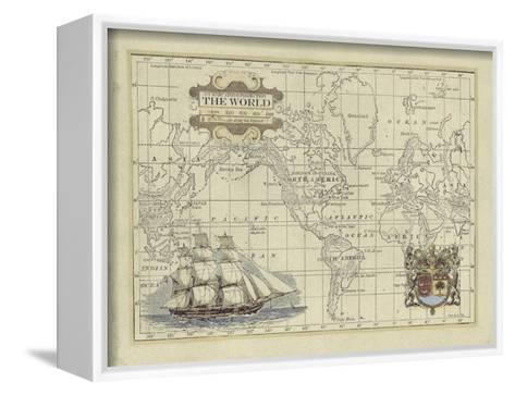 Antique Map of the World-Vision Studio-Framed Canvas Print