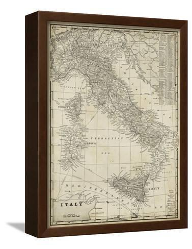 Antique Map of Italy-Vision Studio-Framed Canvas Print