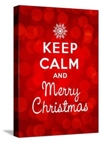 Keep Calm and Merry Christmas-Thomaspajot-Stretched Canvas Print