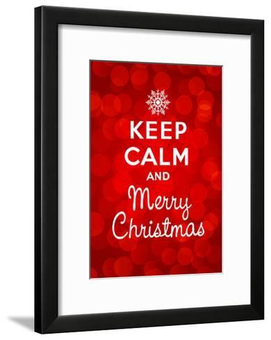 Keep Calm and Merry Christmas-Thomaspajot-Framed Art Print