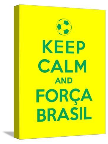 Keep Calm and Forca Brasil-Thomaspajot-Stretched Canvas Print