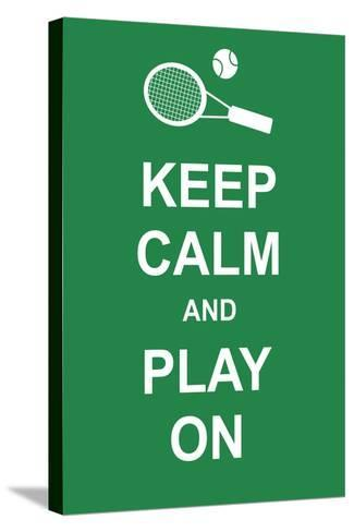 Keep Calm and Play On-prawny-Stretched Canvas Print