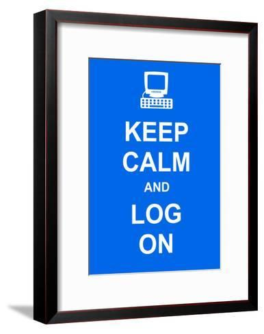 Keep Calm and Log On-prawny-Framed Art Print