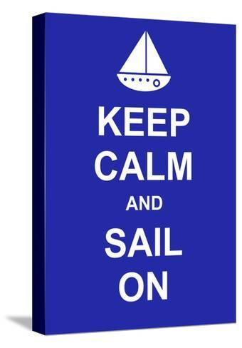 Keep Calm and Sail On-prawny-Stretched Canvas Print