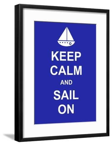 Keep Calm and Sail On-prawny-Framed Art Print