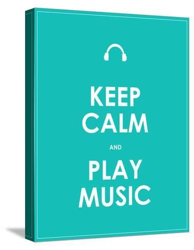 Keep Calm and Play Music,Vector Background,Eps10-place4design-Stretched Canvas Print