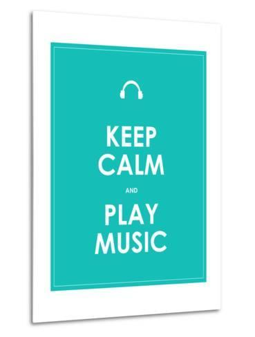 Keep Calm and Play Music,Vector Background,Eps10-place4design-Metal Print