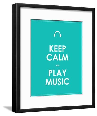 Keep Calm and Play Music,Vector Background,Eps10-place4design-Framed Art Print
