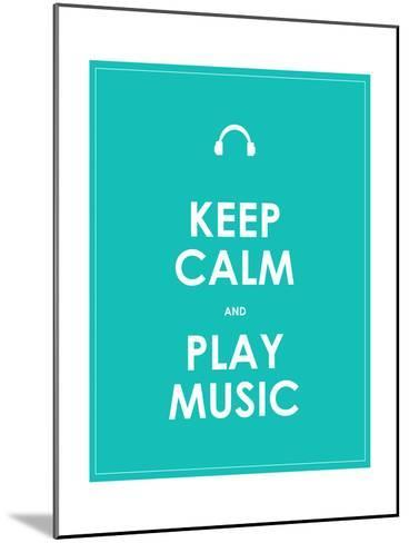 Keep Calm and Play Music,Vector Background,Eps10-place4design-Mounted Art Print