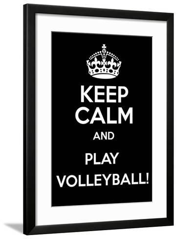Keep Calm and Play Volleyball-Andrew S Hunt-Framed Art Print