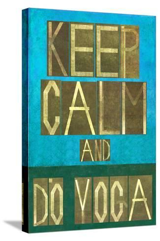 Earthy Background Image and Design Element Depicting the Words Keep Calm and Do Yoga-nagib-Stretched Canvas Print