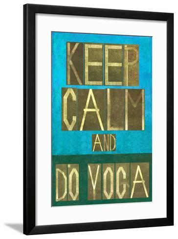 Earthy Background Image and Design Element Depicting the Words Keep Calm and Do Yoga-nagib-Framed Art Print