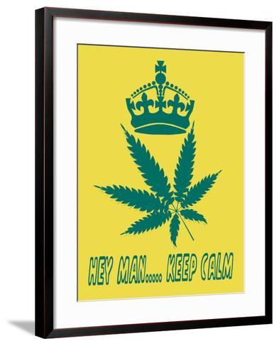 Hey Man Keep Calm- cotton-al-Framed Art Print