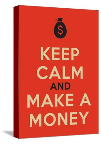 Keep Calm Poster-MishaAbesadze-Stretched Canvas Print