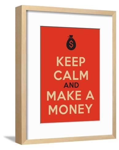 Keep Calm Poster-MishaAbesadze-Framed Art Print