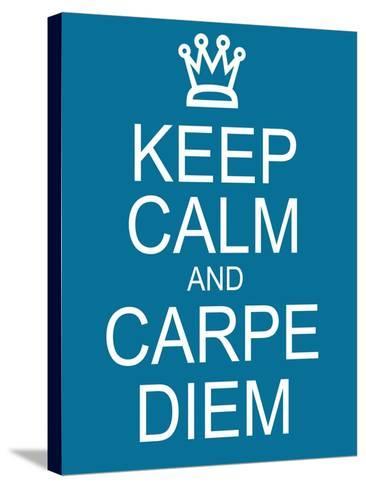 Keep Calm and Carpe Diem-mybaitshop-Stretched Canvas Print