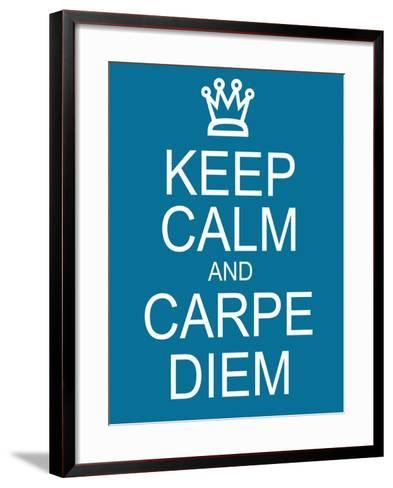 Keep Calm and Carpe Diem-mybaitshop-Framed Art Print
