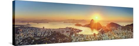Brazil, Rio De Janeiro, View of Sugarloaf and Rio De Janeiro City-Michele Falzone-Stretched Canvas Print
