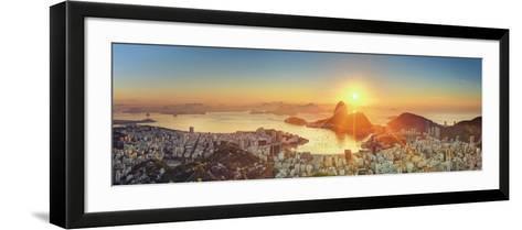 Brazil, Rio De Janeiro, View of Sugarloaf and Rio De Janeiro City-Michele Falzone-Framed Art Print