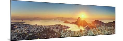 Brazil, Rio De Janeiro, View of Sugarloaf and Rio De Janeiro City-Michele Falzone-Mounted Photographic Print