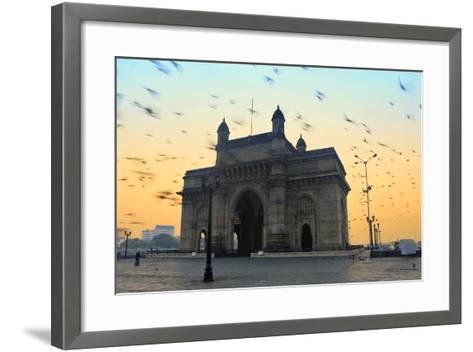 India, Maharashtra, Mumbai, Gateway of India, the Gateway of India at Dawn-Alex Robinson-Framed Art Print