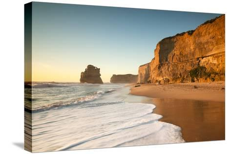 Great Ocean Road, Port Campbell National Park, Victoria, Australia. Gibson Steps Beach at Sunset-Matteo Colombo-Stretched Canvas Print