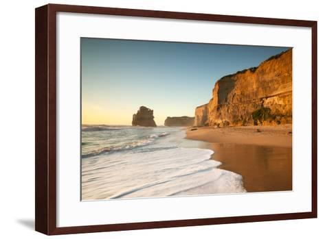 Great Ocean Road, Port Campbell National Park, Victoria, Australia. Gibson Steps Beach at Sunset-Matteo Colombo-Framed Art Print