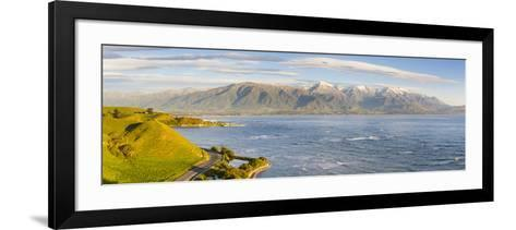 Elevated View over Dramatic Coastal Landscape, Kaikoura, South Island, New Zealand-Doug Pearson-Framed Art Print