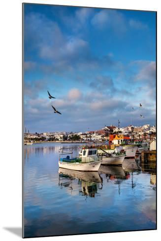 View from Fishing Harbour Towards Old Town, Lagos, Algarve, Portugal-Sabine Lubenow-Mounted Photographic Print