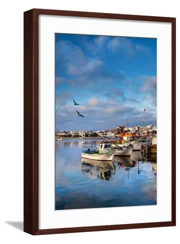 View from Fishing Harbour Towards Old Town, Lagos, Algarve, Portugal-Sabine Lubenow-Framed Art Print
